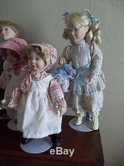 C Ashton Drake Little House on the Prairie Set of 8 Dolls