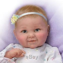 Cheryl Hill Lifelike Touch Activated Giggling Baby Girl Doll from Ashton Drake