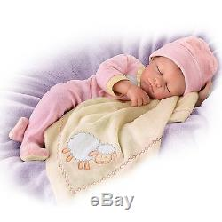 Counting Sheep 18'' Weighted Poseable Lifelike Baby Doll by Ashton-Drake