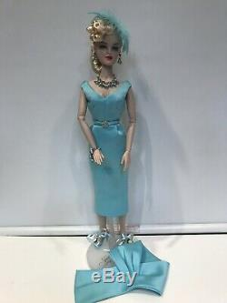 Created By Matisse Aqua Dress -shawl-hat-jewelry-shoes-fits Gene-madra-no Doll