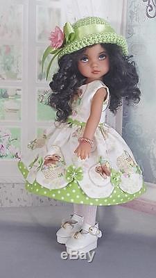 Dress Set Made For Effner Boneka, Ashton Drake 10-12 Dolls, My Meadow Patti Doll