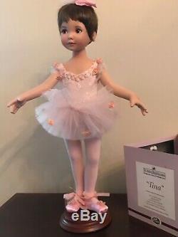 Dianna Effner's Tina, 15 inch porcelain ballerina doll, Ashton Drake