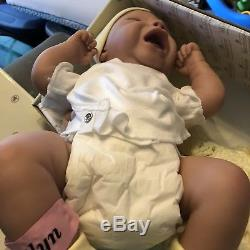 Dont Cry Little Kaitlyn Silicone Baby Doll by The Ashton-Drake Galleries NEW