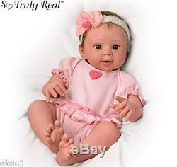 ELLA Weighted Breathing Lifelike Baby Doll by Ashton-Drake