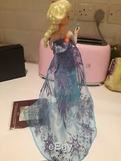 Elsa Frozen Ashton Drake Doll Disney Bradford Exchange singing musical Rare
