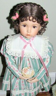 Emily 1995 Ashton Drake Dianna Effner Classic Collection Doll & Stand 16