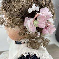 Emily Expressions Dianna Effner Vntg 1991 18 Porcelain Girl Doll Pinafore OOAK