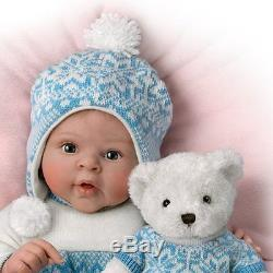 Eskimo Kisses Ashton Drake Baby Doll with Plush Bear by Sherry Rawn 18 inches