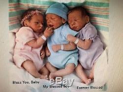 Forever Blessed Set of Triplets, Blessings 12'' Girl in Purple Ashton Drake