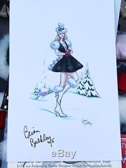 Gene Doll Rockettes Jingle Belle 2005 Outfit Radio City Music Hall RARE Signed