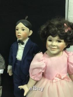 Hamilton Collection 1993 The Little Rascals 16 Porcelain Dolls Darla Pete WS29