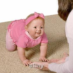 Interactive Touch Activated Aubrey Crawling Baby Girl Doll Ashton Drake New