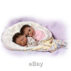 Jada and Jayden Ashton Drake Twin Doll Set by Waltraud Hanl 13 inches