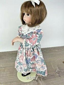 Jenny Expressions by Dianna Effner Vntg 1992 18 Porcelain Girl Doll Brown OOAK