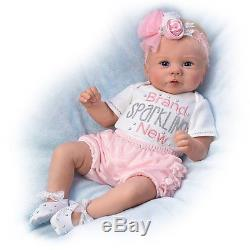 Kaylie's Sparkling Brand New, Poseable Weighted Hand Rooted Hair by Ashton Drake