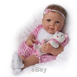 Kitten Kisses Lifelike Baby Doll by Ashton Drake New NRFB
