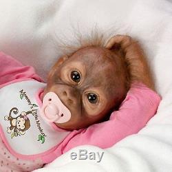 Leila's Loving Touch 20'' Monkey Baby Doll by Ashton Drake NRFB