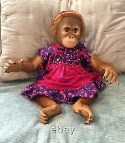 Lifelike Baby Monkey Doll by Ashton Drake, Collectable