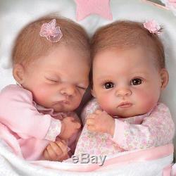 Lifelike Lullaby Twins Baby Girl Dolls Featuring Heather & Hannah Ashton Drake