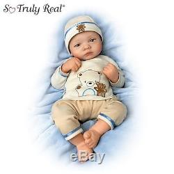 Linda Webb Bearly Asleep 19-Inch Realistic Lifelike Baby Boy Doll Ashton Drake