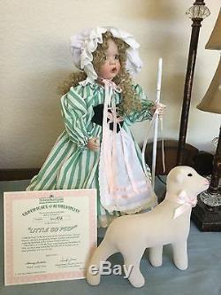 Little Bo Peep Porcelain Wendy Lawton Doll Ashton Drake 1995