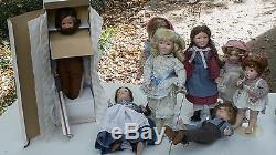 Little House On The Prairie Doll Set 8 -Ashton Drake Plus 5 more dolls