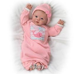 Little Squirt Lifelike Baby Girl Doll Weighted by Ashton-Drake Galleries