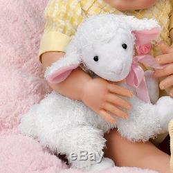 Littlest Lamb 20'' Baby Doll by Ashton Drake with Toy Lamb New