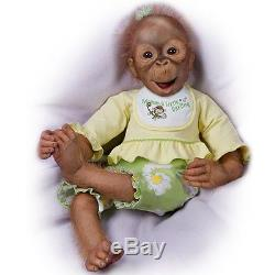 Lola's Look Of Joy Touch-Activated Monkey Doll by Ashton Drake