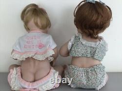 Lot of 2 VintagePORCELAIN dolls ASHTON DRAKE and Elke Hutchens