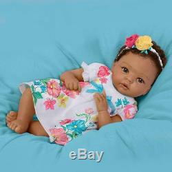 Lovely Gabrielle Lifelike Weighted Silicone Ashton Drake Baby Doll withRooted Hair