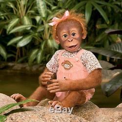 Momoko Realistic Baby Girl Monkey Doll by Ashton Drake NRFB