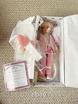 New in Box Ashton Drake Dianna Effner Walk for Cure Doll Backpack, Balloons COA