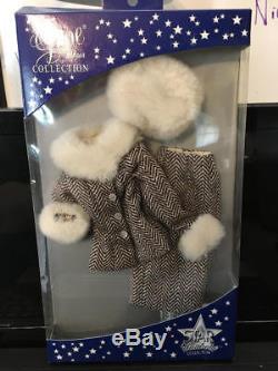 Odom Ashton Drake 2005 Gene Star Wardrobe Herringbone Suit W Fur Trim Nrfb