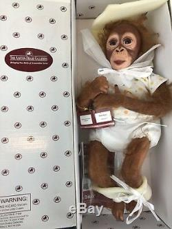 Orangutan Monkey Doll Baby Babu Ashton Drake Simon Laurens 16 Life Like Chimp