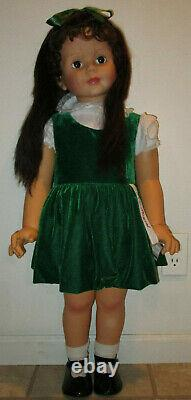 Patti Play Pal Ashton Drake green velvet dress rare hair