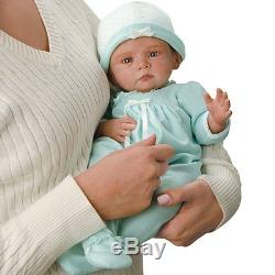 Peyton 17'' Weighted Baby Girl Doll in Sleeper and Cap Ashton Drake