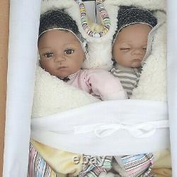 Posable Ashton Drake Dolls So Truly Real Baby Twins Jada & Jayden Waltraud Hanl