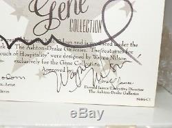RARE Gene Marshall Doll Touch of Hospitality Mel Odom, Wagne Nilson Signed COA