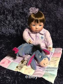 Rare Ashton Drake Diana Patchwork Winnie the Pooh collection Porcelain Dolls