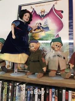 Rare Ashton Drake Galleries (Snow White And The Seven Dwarfs) Porcelain Dolls