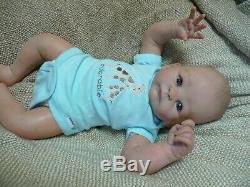 Realistic lifelike OOAK reborn baby doll 17 Tasha Edenholm preemie/newborn boy