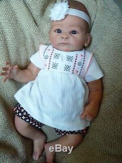 Realistic lifelike OOAK reborn baby doll 17 Tasha Edenholm preemie/newborn girl