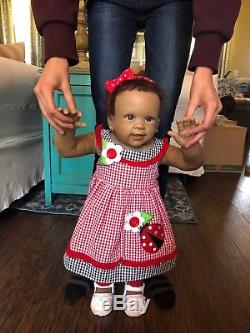 Reborn AA Biracial Ethnic Kiaras First Steps Walking Baby Doll Ashton Drake