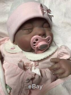 Reborn Ashton Drake Newborn doll, Soft Silicone Vinyl Blend, 19