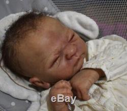 Reborn Baby Ashton Drake Doll 4lb 21in Heart Beat Rooted Hair Cute! OOAK