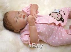 Reborn Baby doll Girl Full Realistic Handmade Silicone Vinyl Cloth Newborn