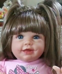 Reborn Lifelike Interactive Walking Baby Doll by Linda Murray Isabella