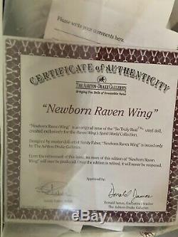 Sandy Faber Ashton Drake Newborn Raven Wing COA NIB Opened