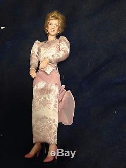 Set of 5 Ashton Drake Diana Princess of Wales Porcelain Dolls